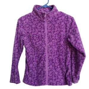 Soft Comfie Purple Print Fleece Full Zip S (7/8)